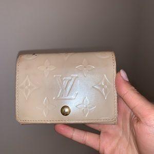 Authentic Louis Vuitton Pearl White vernis wallet